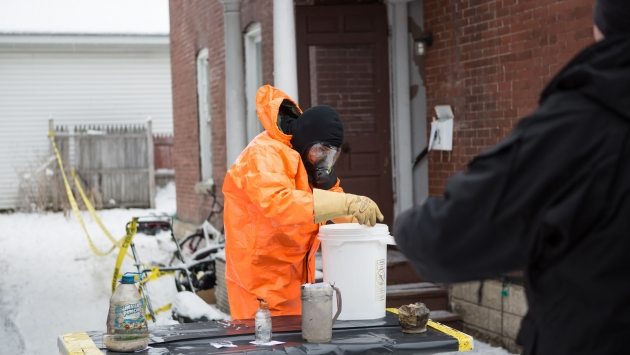 Contaminated Crime Scene Emergency Response Team responds to possible meth lab.